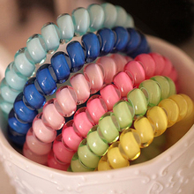 15PCS Girls Telephone Wire Line Gum Cord Elastic Ring Ponyta