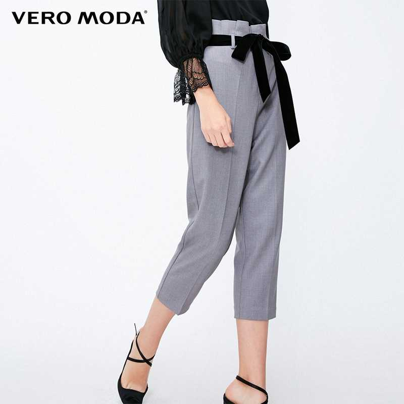 Vero Moda 2019 New Women's High-rise Lace-up Pleated Leisure Pants | 31836J537