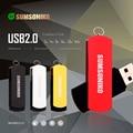 SUMSONIKO USB Flash Drive Swivel 5 Colors Pen Drive High Speed USB 2.0 Flash Memory Stick 64GB 32GB 16GB 8GB 4GB 2GB Can Track