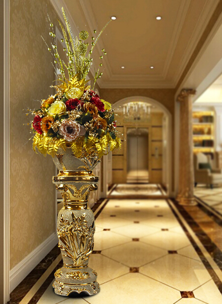 High Grade Large Size Floor Vase Living Room Villa Market Restaurant Decoration Vase With