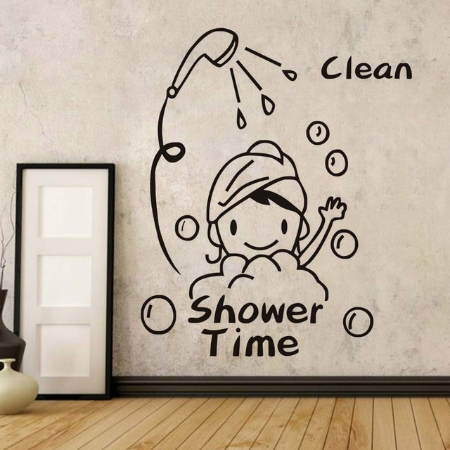 shower time bathroom wall stickers baby have a bath mural removable