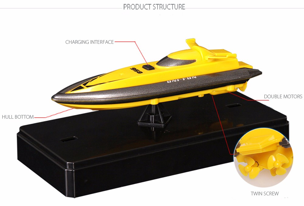 RC Boat Outdoor Children Toys Radio Control RC 2 Channels Waterproof Mini Electric Boats (6)