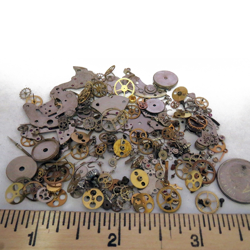 10g/bag Steampunk Gears Vintage Steampunk Wrist Watch Old Parts Gears Wheels Steam Punk Lots DIY