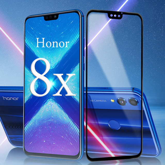 For HUAWEI Honor 8X Shockproof Tempered Glass For Huawei Honor 8X 9X Pro Screen Protector Full Protection Film For Honor 8X Glas