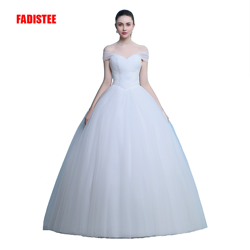 FADISTEE New Arrival Elegant Wedding Dress Vestido De Festa Dress Tulle Ball Gown Long Style Pleat Luxury Ivory Party Dresses
