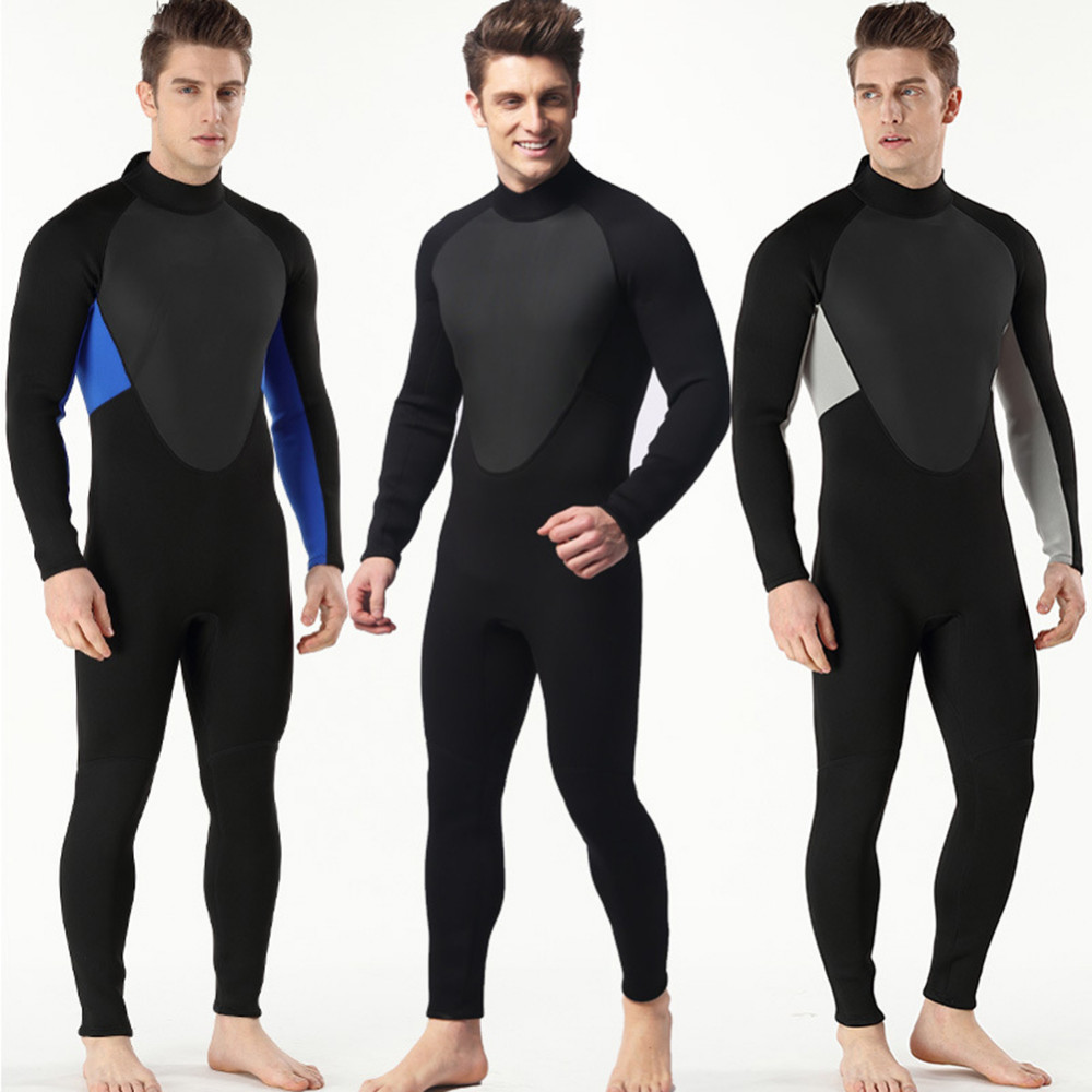 High Quality New 3mm Cool Black Diving Triathlon Neoprene Wetsuit for Swimming Surf Men Scuba Equipment Split Suits S-3XL