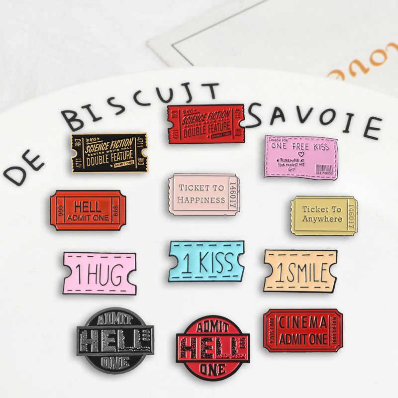 Vários bilhetes de comando pinos design de jogo divertido broches emblemas saco roupas moda esmalte pinos presentes para amigos jóias atacado
