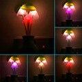 Moda us plugue cogumelo luz tomada de parede-controlada sensor led night light lamp decoração do quarto