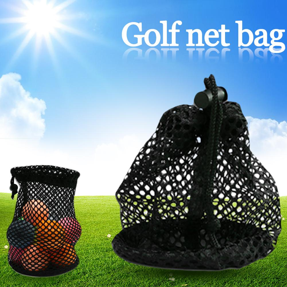 Durable Mesh Nets Bag Pouch Scuba Dive Gear Golf Tennis Balls Carrying Holder Storage Clip On Caddy Pouch 28x13cm Black