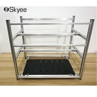 S SKYEE Open Air Mining Rig Non Stackable Frame Case For 12 GPU ETH BTC Ethereum