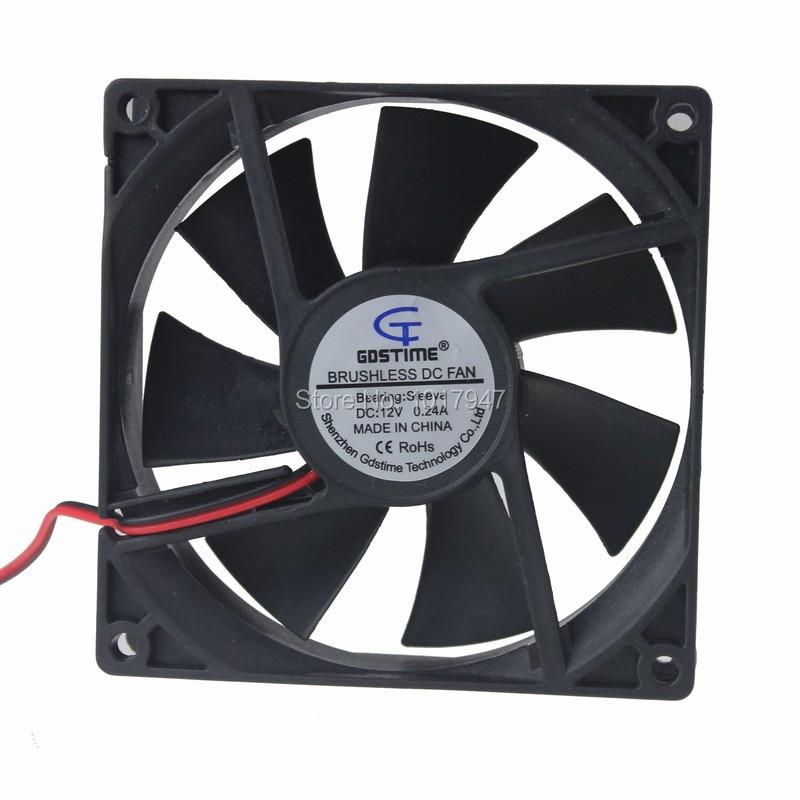 100Pieces LOT Gdstime 9cm 92mm 92*25mm 9225 DC 12V 2Pin Brushless Cooling Fan