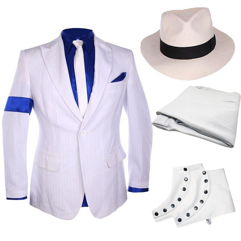 Clásico MJ Michael Jackson Smooth Criminal raya traje chaqueta ...