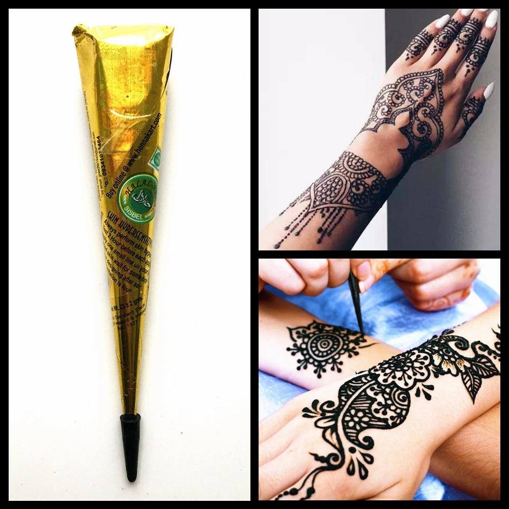 Temporary Black Henna Tattoo: Black Henna Tattoo Paste Indian Natural Herbal Henna Cream