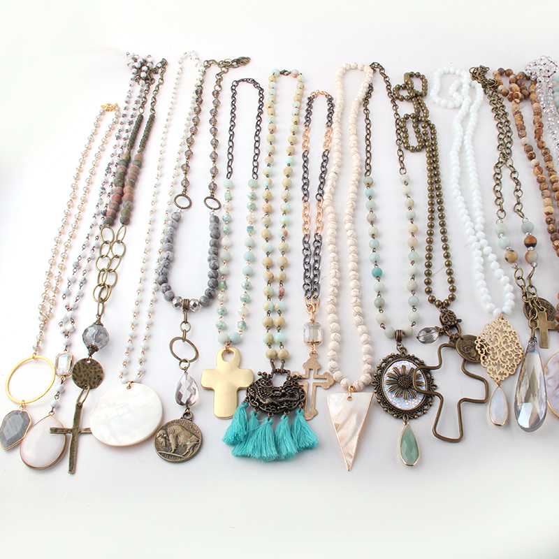 Wholesale MOODPC Fashion Mix Color Pendant Necklace Handmade Women Jewelry 20pc mixWholesale MOODPC Fashion Mix Color Pendant Necklace Handmade Women Jewelry 20pc mix