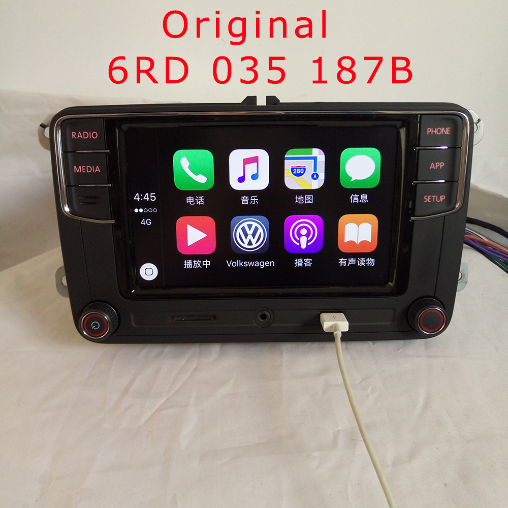 "imágenes para Carplay App 6.5 ""MIB RCD330 Plus para VW Golf 5 6 Jetta MK6CC MK5 Tiguan Passat Skoda Coche carplay Radio 6RD 035 187B 6RD035187B"