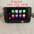 "Original 6.5 ""MIB RCD330G Plus 187B RCD510 para VW Golf 5 6 Jetta Passat CC Tiguan Skoda 6.5"" Rádio Do Carro Do Bluetooth 6RD 035 187B MIB"