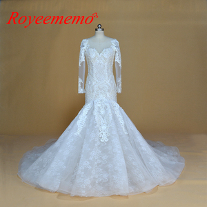 Image 1 - Champagne e marfim vestido de casamento do projeto do laço especial clássico estilo sereia do vestido de casamento custom made fábrica de preços por atacado