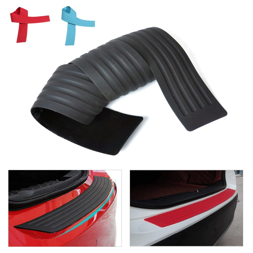 DWCX New Rubber Rear Guard Bumper Protective Trim Cover with Adhesion Protector for VW Golf Caddy Passat  Polo Jetta