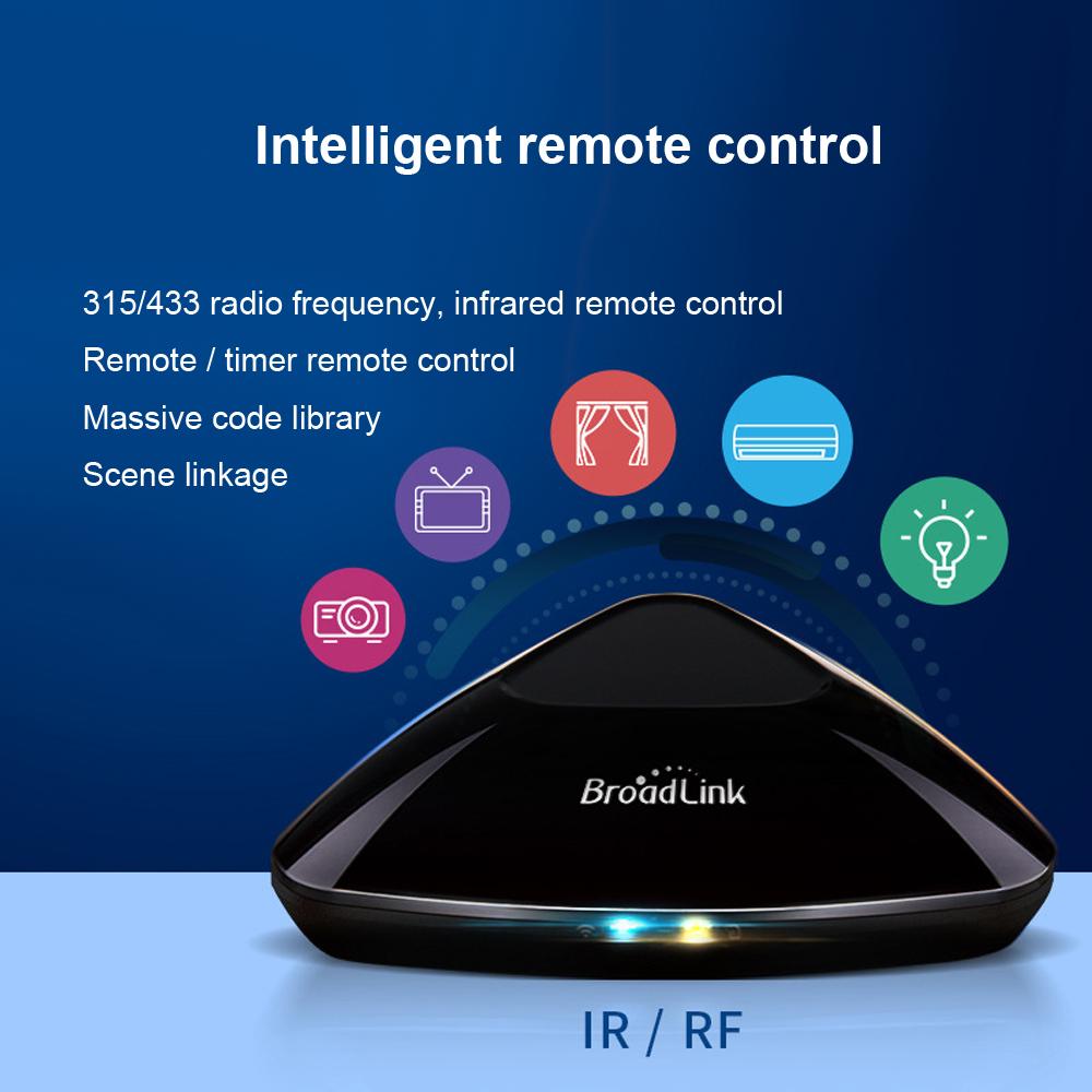 Prix pour Nouveau broadlink rm2 rm pro smart domotique universel contrôleur intelligent wifi + ir + rf interrupteur à distance contrôle via ios android