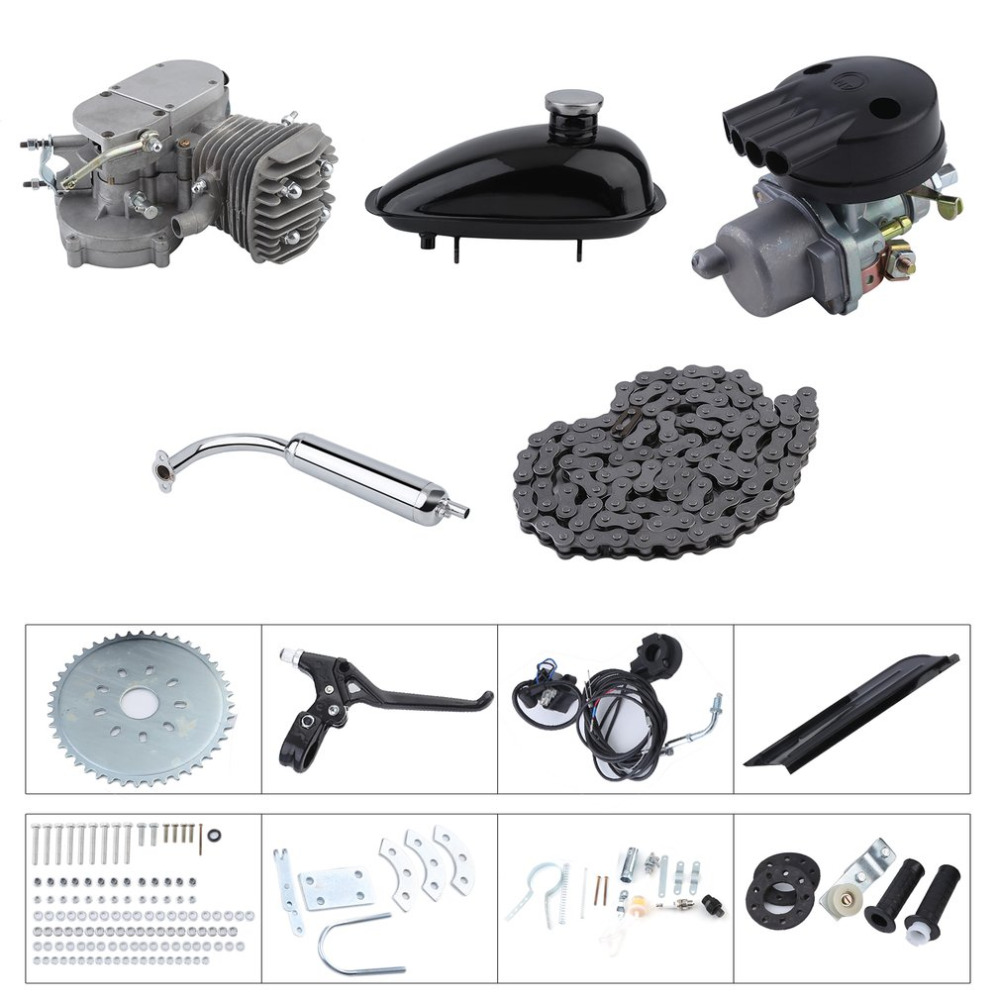 2 Stroke 50cc Bicycle Gas Motorized Engine Bike Motor Kit Cycle Engine Complete Set DIY Bicycle Accessoriess toothed belt drive motorized stepper motor precision guide rail manufacturer guideway