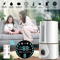 Household Air Humidifier Ultrasonic Mute Home Electric Aromatherapy Intelligent LCD Remote Control Essential Oil Aroma Diffuser