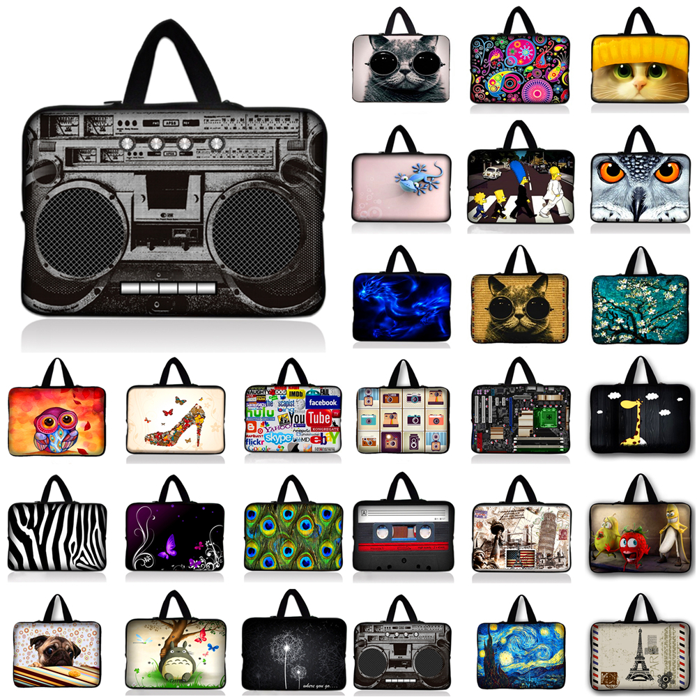 7 10 11.6 13 13.3 15.4 15.6 inch Butterfly Notebook Laptop Sleeve Bag Case Carrying Handle Bag For Macbook Air/Pro/Retina #N
