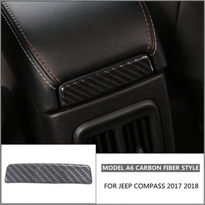 Image 5 - Accessories For Jeep Compass 2017 2018 Armrest Box Decoration Molding Cover Kit Trim RED BLUE MATTE BRIGHT CARBON FIBER BLACK