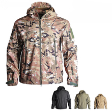 цена TAD Softshell Tactical Hunting Clothes Waterproof Outdoor Sport Jacket Men Winter Thermal Windbreaker Hiking Camping Coat
