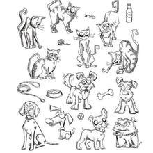 cat dog Stamp Or stamp for DIY Scrapbooking/Card Making/Kids Fun Decoration Supplies A323