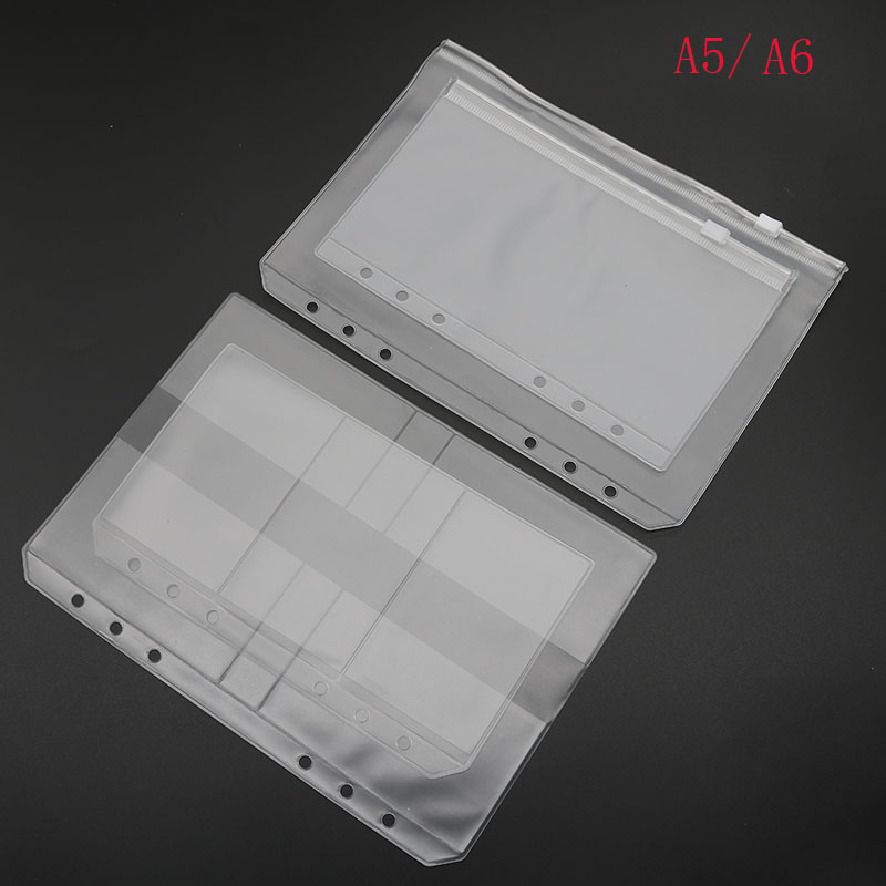 A5 A6 Folder Folder Binder Presentation Receives Pvc Bag Concise Diario's Spiral Planning Applications Product Card Holder Bag