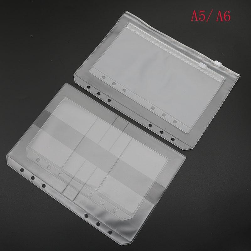 A5 A6 Folder Folder Binder Presentation Receives Pvc Bag Concise Diario's Spiral Planning Applications Product Card Holder Bag