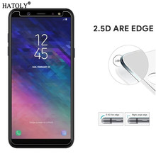2pcs A600 Glass Screen Protector For Samsung Galaxy A6 2018 Tempered Glass Film For Samsung A6 2018 A600 Anti-scratch Glass Film new original projector bare bulb bp96 02183a dpl1221p 1181 7 for samsung sp a600 en a600 projectors