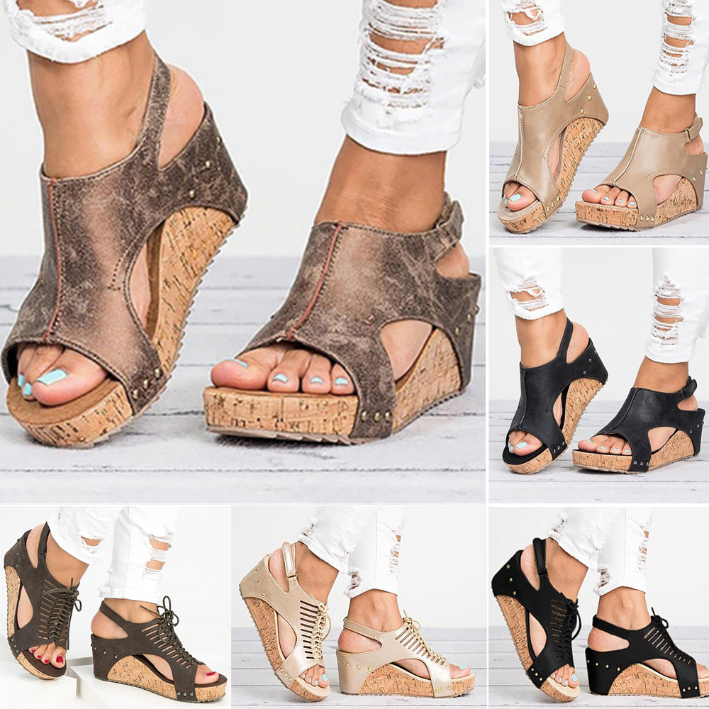 Women Sandals Platform Sandals Wedges Shoes Women Heels Gladiator Sandalias Mujer Summer Shoes Peep Toe Wedge Heels SandalsWomen Sandals Platform Sandals Wedges Shoes Women Heels Gladiator Sandalias Mujer Summer Shoes Peep Toe Wedge Heels Sandals