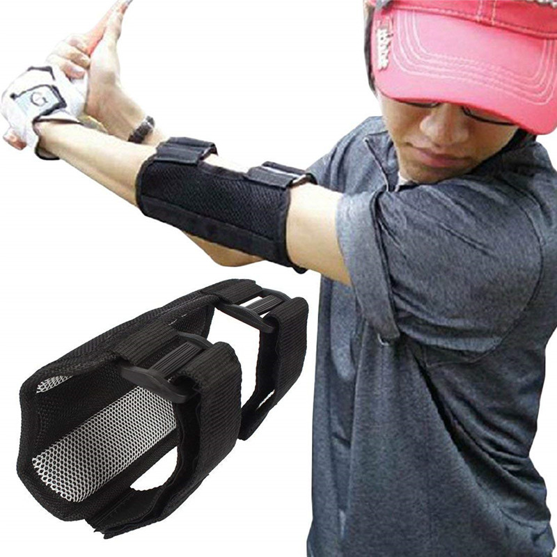 Golf Elbow Brace Arc Corrector Swing Training Aids Straight Practice Bands Golf Swing Trainer Arm Bending Alarm Golf Accessories