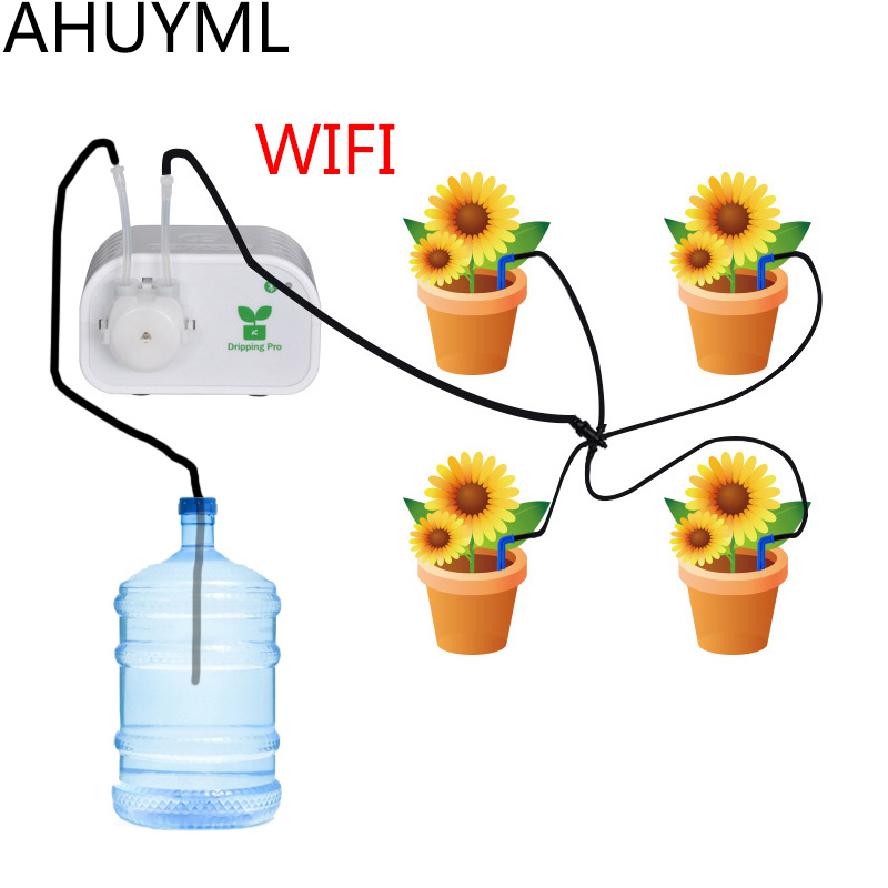 Mobile Phone Control Intelligent Automatic Irrigation Device Garden Tool Timer Water Pump Irrigation Dripping System Succulent Mobile Phone Control Intelligent Automatic Irrigation Device Garden Tool Timer Water Pump Irrigation Dripping System Succulent