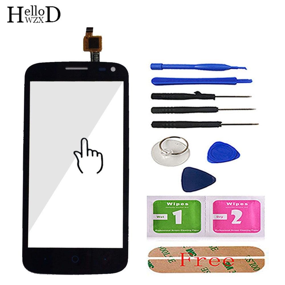 4.5 A+++ Phone Touchscreen For ZTE Blade Q Lux / Qlux 3G 4G Touch Screen Glass Digitizer Panel Lens Sensor Flex Cable Adhesive