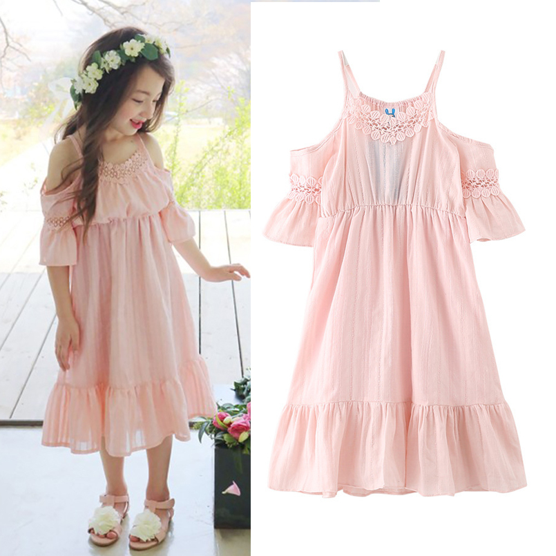 Cute Outfits Fashion Outfits: Children Girls Dresses Cotton Half Sleeve Girls Clothing