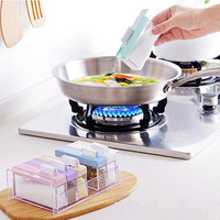 Seasoning Boxes Lemorange 4Pcs 6Pcs Sugar Salt Spice Storage Plastic With Label Home Kitchen Cooking Tools