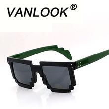 d312338253731c Zonnebril Pixel Punten voor Vrouwen mannen Mode Bril Glossy Zwart Mat Zwarte  Thee Rood Roze Groen Schildpad