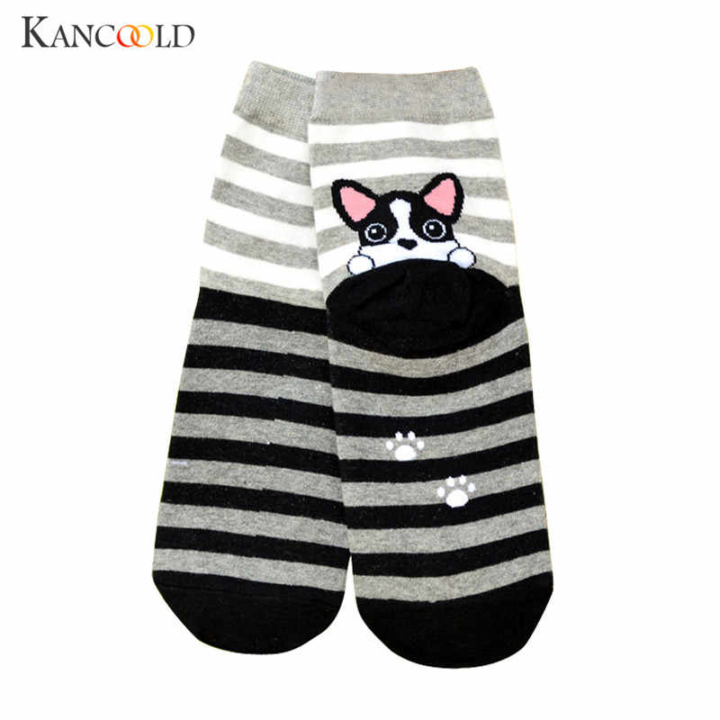 Winter Sweet Sock Girls Animals Cartoon Socks women Short Hosiery Soft Cotton mujer Elastic Puppy Floor Ankle high Sock OC25A