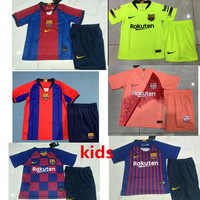 17aa1c9ad kids kit 18 19 20 thailand Messi Barcelona Soccer Jersey Children s shirt  Iniesta MALCOM Dembele Coutinho