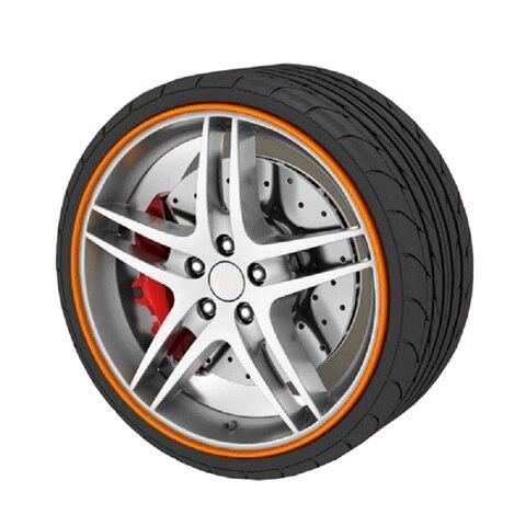 CHIZIYO 8M Car Wheel Hub Tire Sticker Strip Wheel Rim Tire Protection Care Covers Auto Accessories Parts For Volkswagen Golf 4 Multan