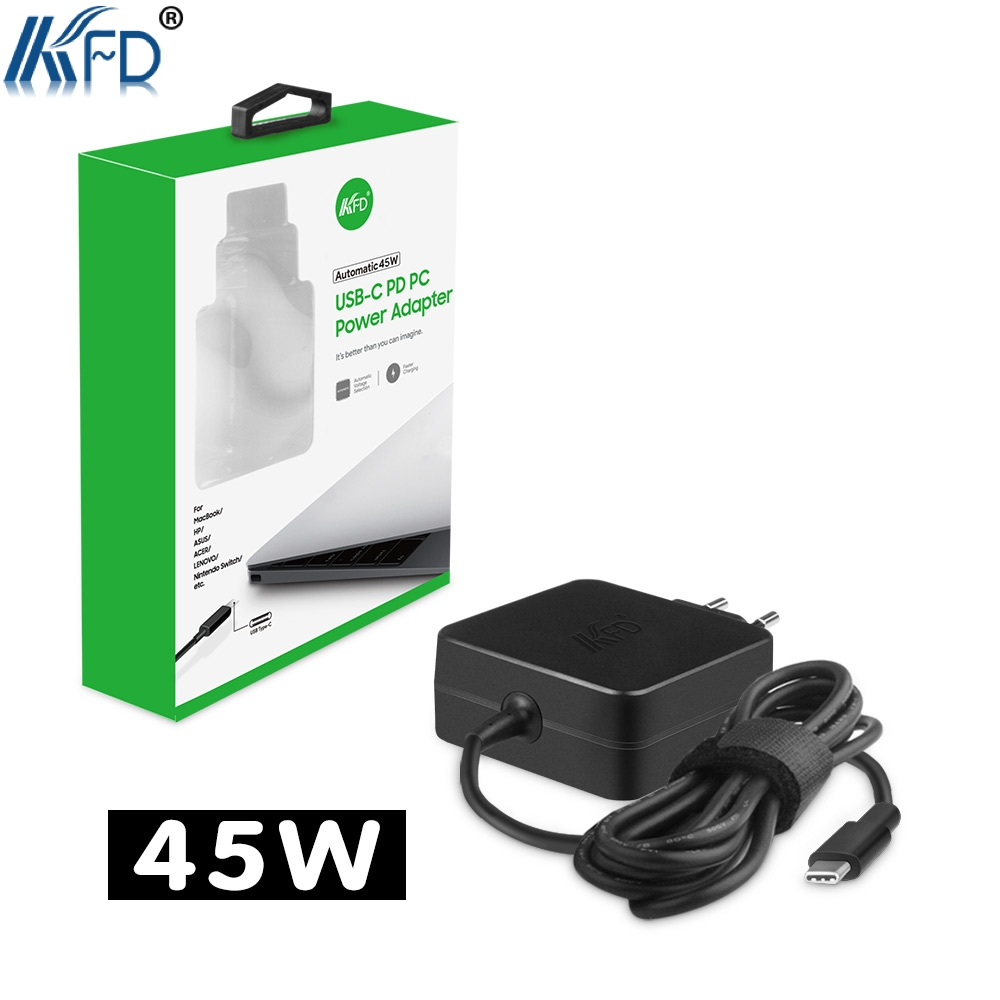 KFD 5-20VPD 45W USB Type C Charger for Xiaomi Air 12.5,Nintendo Switch 15V 3A for Lenovo YOGA 5 Chrome Pixel 2 Acer Swift 7