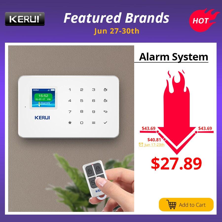 KERUI G18 Wireless Home GSM Security Alarm System DIY Kit APP Control With Auto Dial Motion Detector Sensor Burglar Alarm System