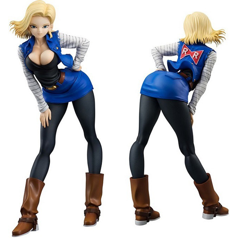 19cm Dragon Ball Z Android 18 Lazuli sexy Anime Action Figure PVC New Collection Figures Toys Collection For Christmas Gift 29cm daiki sexy anime action figure pvc brinquedos collection toys for christmas gift gc0104