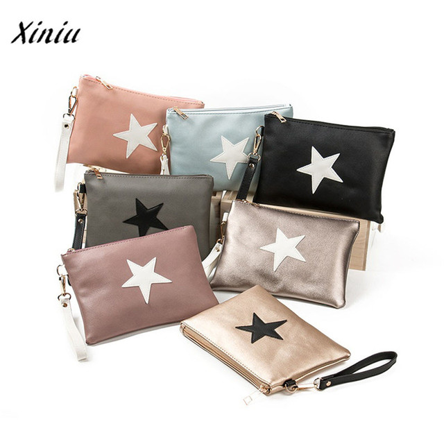 New handbag Women Envelope Bag Day Cluthes Bags Zipper Coin Purse Wallet Card Holders Stars Pattern Handbag bolsa feminina 1