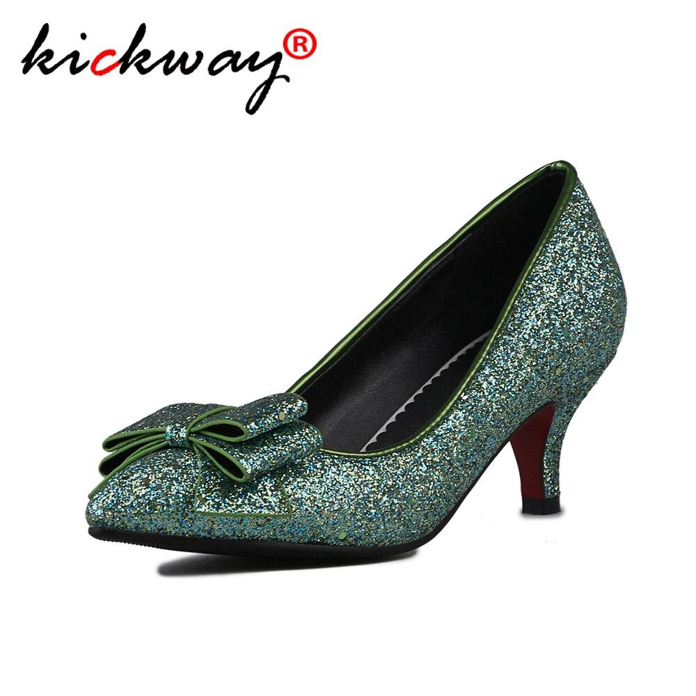 Women High Heels Pumps Gold Silver