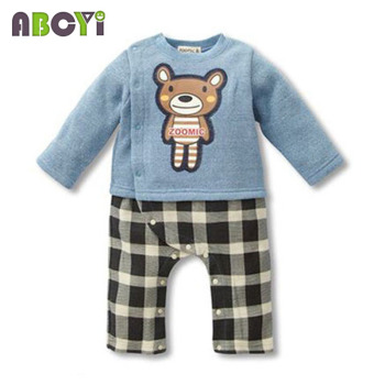 100% Cotton Baby rompers legged long sleeves baby clothing newborn cartoon Elephan Giraffe baby boy clothes girls roupas bebes 1
