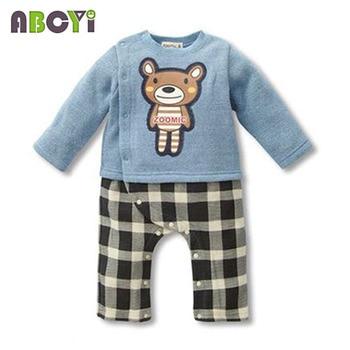 100% Cotton Baby rompers legged long sleeves baby clothing newborn cartoon Elephan Giraffe baby boy clothes girls roupas bebes