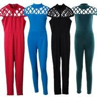 Fashion Women's Bandage Short Sleeve Jumpsuit Ladies Summer Casual Playsuits Size 6 - 14 UK